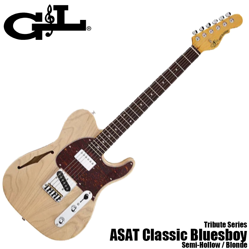 Tribute ASAT Classic Bluesboy Semi-Hollow RW/BLD