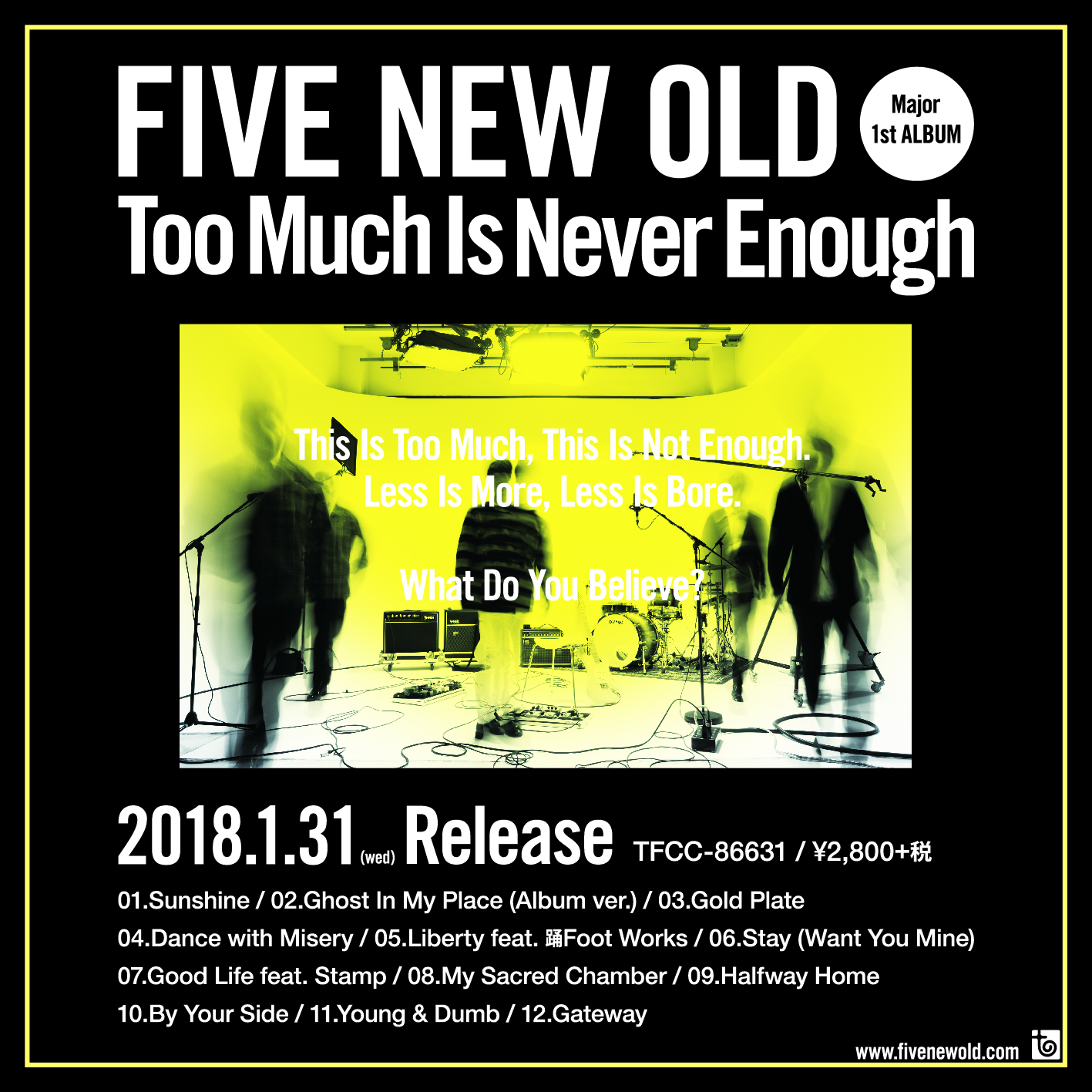 FIVE NEW OLD/Too Much Is Never Enough